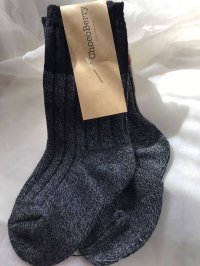 #9123 size:1-2/3-4/5-6yr Long black and grey sock