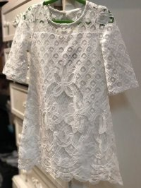 #3250 size:2/3/5/6 Offwhite Lace Dress