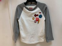 #12336 Size:3/4/5/6/8/12/14 yrs Full cotton grey color top