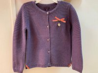 #11297 size: 4/5/6/7/8/9/11 yrs Lavender long sleeve knitted cardigan