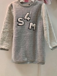 #13214 Size:3/4/5/6/10/12-14yrs, 29%cotton,Grey color top