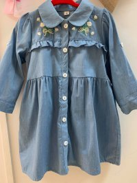 #10705 size : 1-2/4-5/6-7yrs denims dress