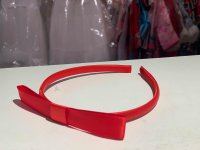 #12237 Red color bow hair band