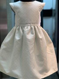 #12912 size:3/4/5/6/8/10yrs Light gold color party dress