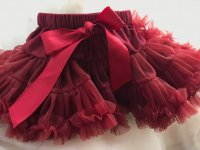 #7986 size : 1-2/5-6/7-8yrs Wine color tutu skirt