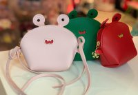 #11605 Red/pink/green color cute frog bags