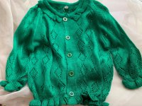 #10990 size: 2/3-4/5-6/7/8-9/9-10/11-12 yrs Girls green cardigan