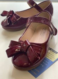 #12162 size : 4-10yrs Wine girls patent leather shoes