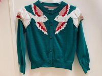 #11342 size: 3-4/5-6/6-7/7-8/9-10 yrs Green Knitted Cardigan