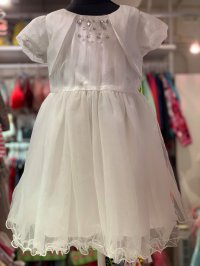 #11711 size: 4-5/5-6/6-7/7-8yrs Off white color party dress