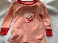 #10245 size : 6-12M/12-18M/18-24M/4/5/8/10yrs Pink 100% cotton cat emb applique tee