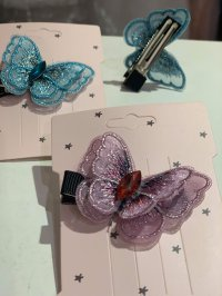 #12013 Ribbon Purple / Blue Hair clip