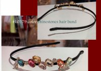 #10379 color rhinesones hair band