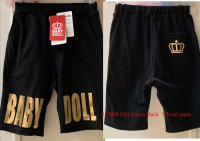 #12868 size : 4-5/6-7/8-9/10-11yrs Full cotton black color sporty short