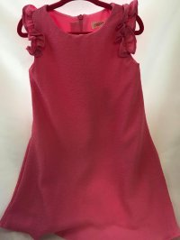 #8888 Size 3/6 yrs Pink wrinkle swatches dress