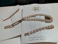 #11555 Hair Clip with Pearl