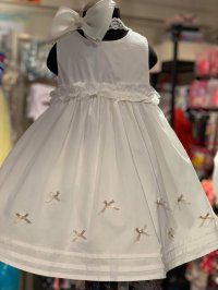 #10582 size2-3/3-4yrs Offwhite party dress