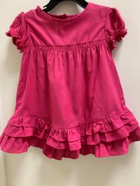 #12298 size: 3/4/5/6/8/10yrs 100% cotton pink lesrvier top