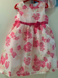#10560 size:18-24M/2-3yrs Floral party dress