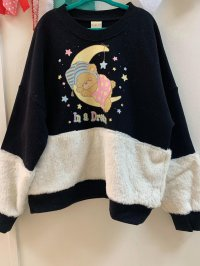 #13353 size : 5-6/7-8yrs Navy fleeces top
