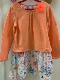 #10034 size: 3-4/4-5 yrs orange dress