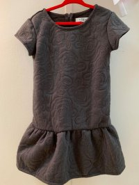 #10645 Size for 2-3/3-4/4-5/5-6/9-10/11-12yrs Grey Dress