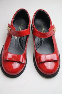 #6622 size:28/29//31/32/34/35/36(約合4-10歲yrs) Girls Red enamel leather shoes