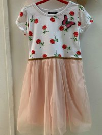 #10738 Size 3/4/5 yrs rose dress