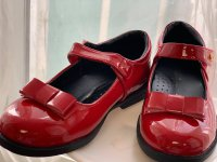 #6622 size : 28/30/31/34 (約合4-10歲yrs) Girls Red enamel leather shoes