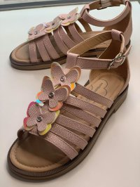 #12897 size: 約合5-9歲 Shiny pink color butterfly pattern sandals