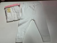 #13718 size : 1-2/2-3/3-4/4-5/5-6/6-7/7-8/8-9/10-12yrs Full cotton white color long pants
