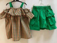 #12809 Size : 6-7/7-8/9-10/10-12yrs 80% cotton, green color top and short set