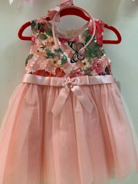 #7976 size:18M/24M pink party dress