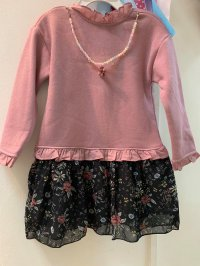 #11999 size : 4-5/5-6/6-7/7-8/9-10yrs dirty pink dress