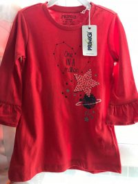 #10126 size 4/5/12yrs 100%cotton Red star top