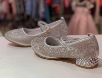 #11226 size : fit for 4-11yrs silver shoes