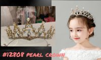 #12808 fit for : 3-10yrs Princess pearl crown