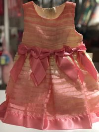 #0201 size : 12M/24M pink party dress