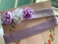 #11375 Light Purple and White Flower Baby Hairband