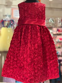 #10578 size:3/4-5/5-6/6-7/7-8yrs Rose Party dress