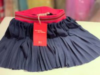 #10163 size 2/3/12yrs Deep blue pleated skirt