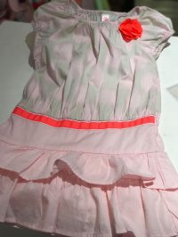 #8650 size3/5yrs Pink Cotton Dress
