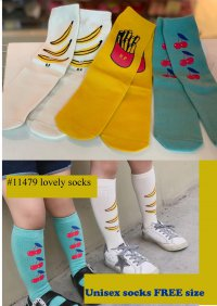 #11479 suitable for 2-10 yrs Free size Unisex lovely socks