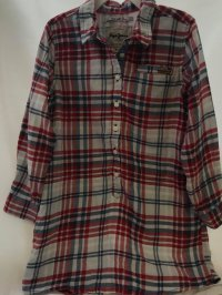 #9285 size 6/8 yrs Long checkered shirt