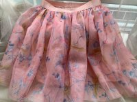 #10589 Size : 1-2/2-3/3-4/4-5/5-6/6-7/7-8/8-9/9-10/yrs coral skirt