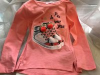 #8860 size:4/5/8/10/12yrs Pink Long sleeve tee