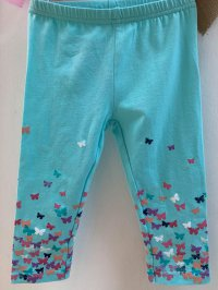 #10708 size 1-2/3-4yrs Green legging