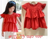 #12603 size:5-6/6-7/7-8/8-9yrs 100% cotton deep orange top