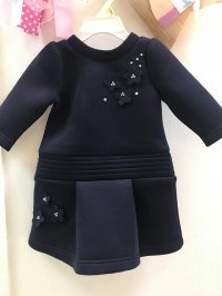 #9966 size:9-12M/1-2Y/8yrs Deep blue dress