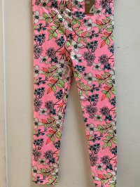 #11032 Size 2yrs Pink color flower legging